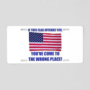 Flag1a Aluminum License Plate