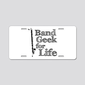 Bass Clarinet Band Geek Aluminum License Plate