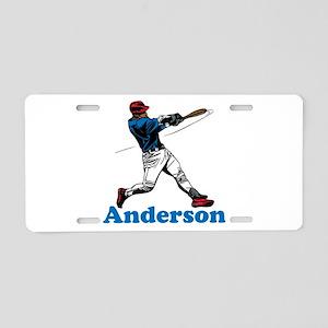 Personalized Baseball Aluminum License Plate