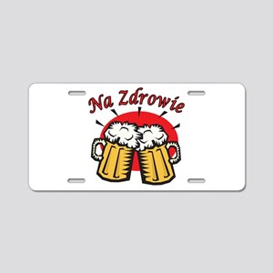 Na Zdrowie Toast With Beer Mugs Aluminum License P