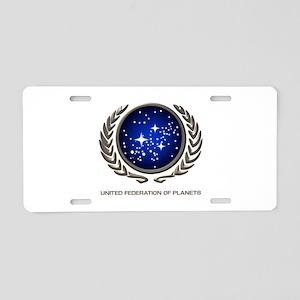 STAR TREK UFP Insignia Aluminum License Plate