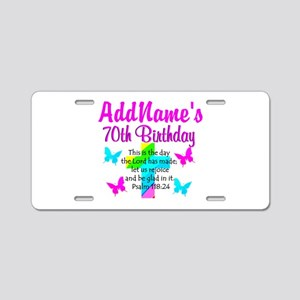 70TH PRAISE GOD Aluminum License Plate