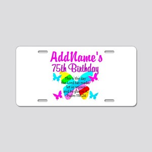 75TH BUTTERFLY Aluminum License Plate