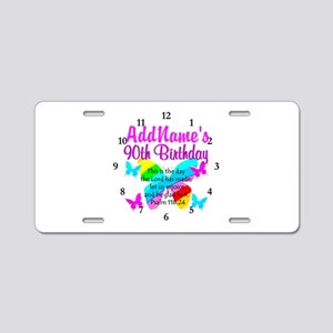 BLESSED 90TH Aluminum License Plate