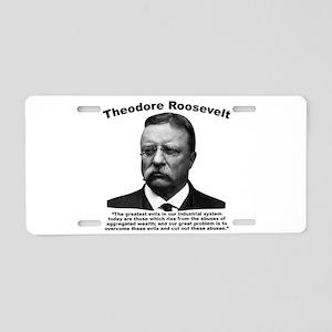 TRoosevelt: Wealth Aluminum License Plate