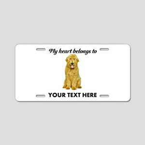 Personalized Goldendoodle Aluminum License Plate