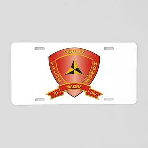 USMC - HQ Bn - 3rd Marine Division Aluminum Licens