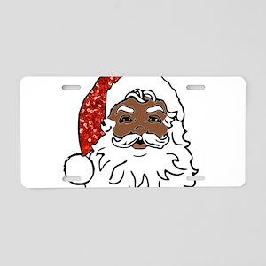 black santa claus Aluminum License Plate