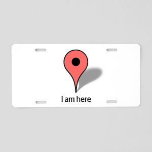 Google Map marker Aluminum License Plate