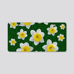 Spring Daffodils Aluminum License Plate