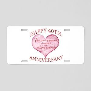 40th. Anniversary Aluminum License Plate
