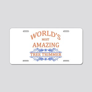 Tree Trimmer Aluminum License Plate