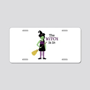 The Witch Is In Aluminum License Plate