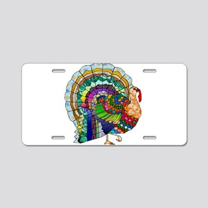 Patchwork Thanksgiving Turkey Aluminum License Pla