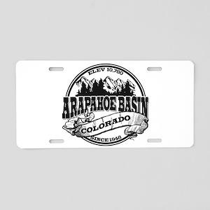 A-Basin Old Circle Black Aluminum License Plate