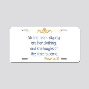 Proverbs 31 woman Aluminum License Plate