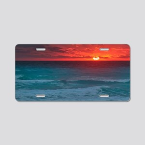 Sunset Beach Aluminum License Plate