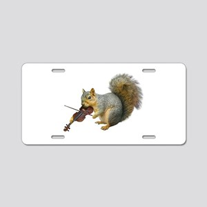 Squirrel Violin Aluminum License Plate