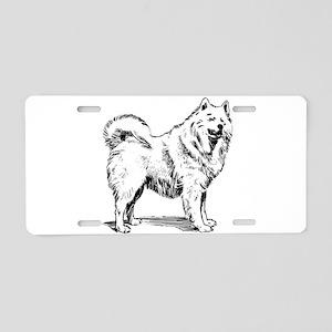 Samoyed dog Aluminum License Plate