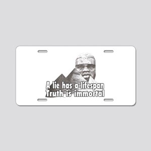 Black History truth won't die Aluminum License Pla