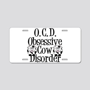Obsessive Cow Disorder Aluminum License Plate