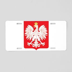 Polish Eagle Red Shield Aluminum License Plate