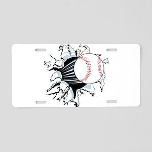 Breakthrough Baseball Aluminum License Plate