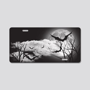 Bats in the Moonlight Aluminum License Plate