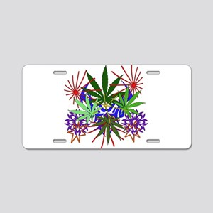 Marijuana Art Aluminum License Plate