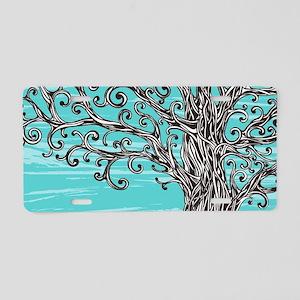 Decorative Tree Aluminum License Plate