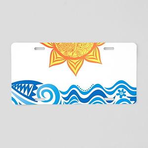 Sun and Sea Aluminum License Plate