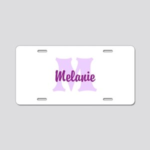 CUSTOM Lilac Purple Monogram Aluminum License Plat