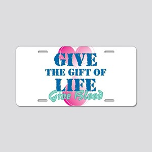 Gift of Life BD Aluminum License Plate