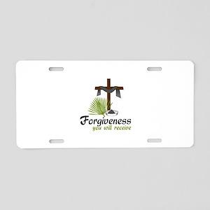 Forgiveness You Will Receive Aluminum License Plat