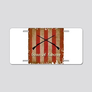 Sons of Liberty Flag Aluminum License Plate