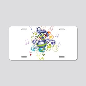 Music in the air Aluminum License Plate