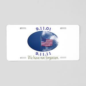 9-11 Not Forgotten Aluminum License Plate