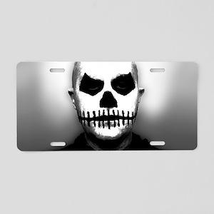 Scary Halloween Skull Head Aluminum License Plate