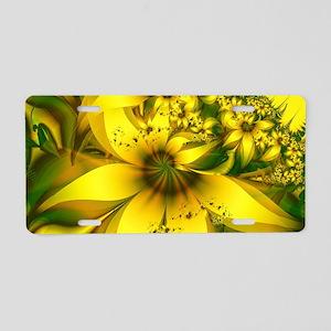 Beautiful Yellow-Green Mead Aluminum License Plate