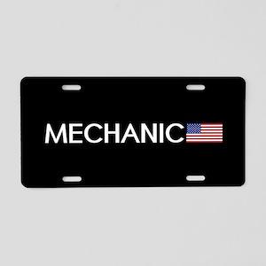 Mechanic: American Flag Aluminum License Plate