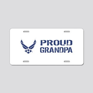 USAF: Proud Grandpa Aluminum License Plate