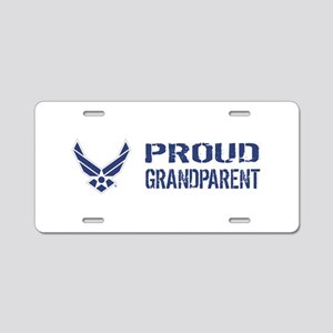 USAF: Proud Grandparent Aluminum License Plate