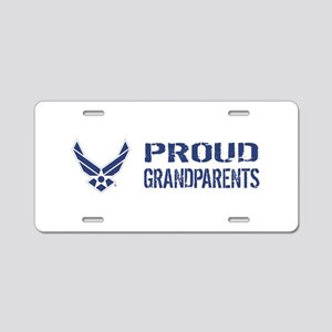 USAF: Proud Grandparents Aluminum License Plate