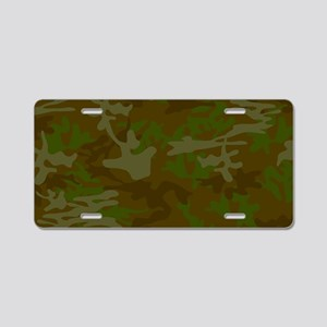 Green Camo Pattern Aluminum License Plate