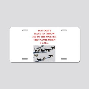 thrpwn to the wolves Aluminum License Plate