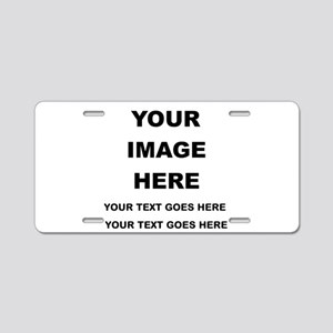 Your Photo and Text Here T Shirt Aluminum License