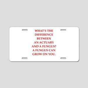 actuary Aluminum License Plate