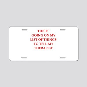 therapist Aluminum License Plate