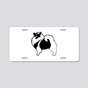 Keeshond Graphics Aluminum License Plate