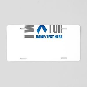 Blue Awareness Ribbon Custo Aluminum License Plate